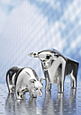 Sculptures of shiny bull and bear - WBF000012