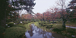 Japan, View of japanese park in autumn - WBF000185