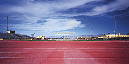 USA, View of football stadium with goalpost - WBF000236