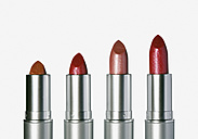 Row of red lipsticks, close up - WBF000346