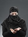 Muslim woman praying - WBF000764