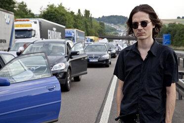 Germany, Traffic jam on autobahn - NDF000163