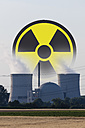 Germany, Nuclear power plant with radioactive warning symbol - CSF013662
