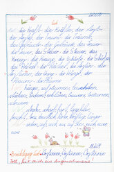 Germany, Munich, Child's drawing in exercise book - CRF001956
