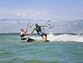 Croatia, Zadar, kitesurfer having fun - HSIF000040