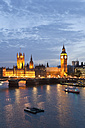 Great Britain, England, London, View of big ben and westminster bridge with thames river - WDF000829