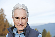 Italy, South Tyrol, Mature man hiking at dolomites, portrait - WESTF015893