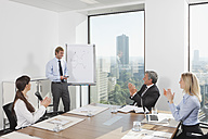Germany, Frankfurt, Business people in conference room - SKF000541