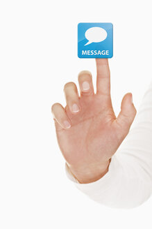 Human hand touching message icon - TSF000146