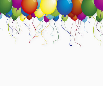 Colorful balloons against white background - TSF000135
