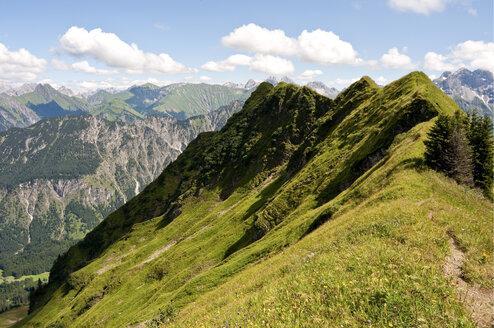 Germany, Bavaria, Schlappoltkopf, View of Allgaeu Alps - UMF000314