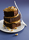 Brownies with peanutbutter, close-up - KSWF000691