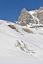 Austria, Vorarlberg, View of heart shape in snow on mountain - WDF000850