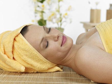 Young woman at spa, smiling - JLF000357