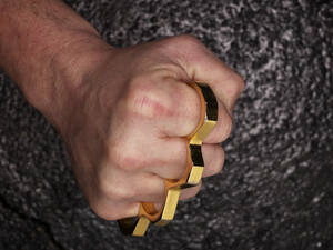 Fist with brass knuckles - AKF000332