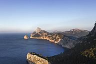 Spain, Balearic Islands, Majorca, Cap de Formentor, View of sea with rock formation - SIEF000774