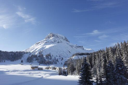 Austria, Vorarlberg, View of omeshorn mountain - SIEF000823