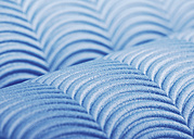 Background of blue plastic, close up - WBF000826
