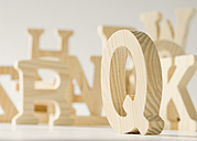 Close-up of wooden letters - WBF000845