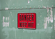 United Kingdom, Danger keep out sign - WBF000919