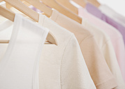 Row of various shirts on hanger - WBF000952