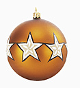 Christmas bauble against white background, close-up - WBF001066
