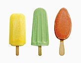 Three ice lolly against white background - WBF001085