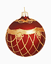 Christmas bauble against white background, close up - WBF001113