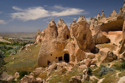Turkey, Cappadocia, Zelve, View of rock formation - PSF000550