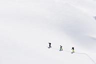 Italy, Trentino-Alto Adige, Alto Adige, Bolzano, Seiser Alm, Group of people on ski tour - MIRF000135