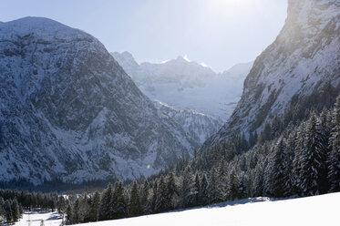Germany, Bavaria, View of winter landscape at Karwendel mountains - MIRF000201