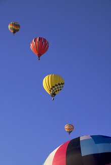 USA, New Mexico, Albuquerque, Air balloons at balloon fiesta - PSF000558