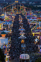 Germany, Bavaria, Munich, View of Oktoberfest fair at night - FOF003325