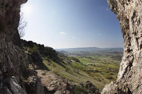 Germany, Bavaria, Franconia, Franconian Switzerland, Walberla, View of landscape from rocks - SIEF001410