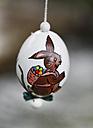 Germany, Bavaria, Franconia, Franconian Switzerland, Muggendorf, Close up of painted easter egg - SIEF001429
