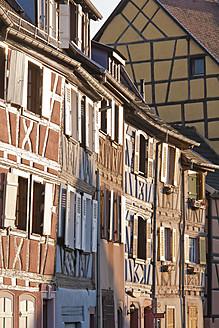 France, Alsace, Colmar, Krutenau, Quai de la Poissonnerie, View of timber framed La Petite Venise quarters - WDF000895