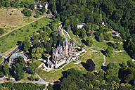 Europe, Germany, North Rhine-Westphalia, Siebengebirge, Aerial view of Castle Drachenburg and Dragon's Rock - CS015068