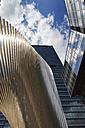 Europe, Germany, Hesse, Frankfurt, View of metal sculpture of DZ-bank - CS015251