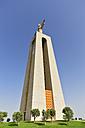 Europe, Portugal, Lisbon, Almada, Cristo-Rei, View of statue and catholic monument of Jesus Christ - FO003446