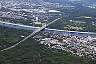 Europe, Germany, North Rhine-Westphalia, Aerial view of Rodenkirchen bridge over Rhine - CS015291