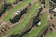 Europe, Germany, North Rhine-Westphalia, Fliesteden, Aerial view of golf course - CS015306