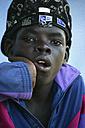 Africa, Guinea-Bissau, Black boy with cap, portrait - DSG000097