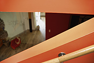 Germany, Upper Bavaria, Munich, Railing on stairway in new house - TCF001688