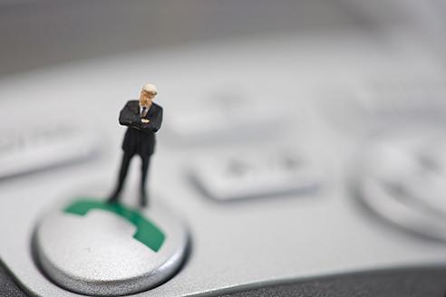 Figurine standing on keyboard - HKF000378