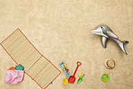Germany, Beach toys on beach - BAEF000279