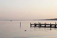 Germany, Bavaria, View of Lake Starnberg at evening - SIEF001942