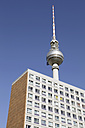 Germany, Berlin, TV tower with house - JMF000063