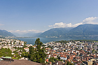 Switzerland, Ticino, View of Locarno with Lake Maggiore - WDF001036