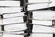 Piled of office files, close up - GWF001603