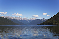 New Zealand, South Island, View of Nelson Lakes National Park with Lake Rotoroa - GWF001610